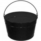 16 Qt Powder Coat Bucket - Glossy Black 006