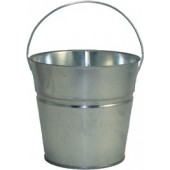 2 Qt Powder Coated Bucket-Plain Galvanized - 315