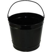 10 Qt Powder Coated Bucket - Glossy Black 006