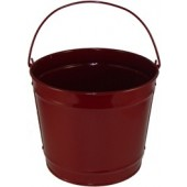 10 Qt Powder Coated Bucket - Burgundy Lustre 016