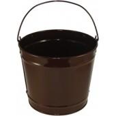 10 Qt Powder Coated Bucket - Chocolate Brown 318