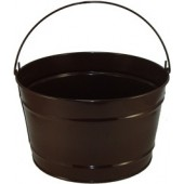 16 Qt Powder Coat Bucket - Chocolate Brown 318
