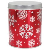 Qt Red with Snowflakes
