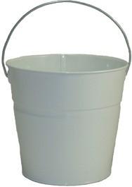 2 Qt Powder Coated Bucket-Glossy White - 005