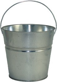2 Qt Powder Coated Bucket-Plain Galvanized - 315