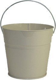 2 Qt Powder Coated Bucket-Beige Shimmer - 316