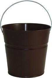 2 Qt Powder Coated Bucket-Chocolate Brown - 318