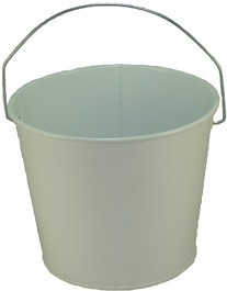5 Qt Powder Coated Bucket - Glossy White 005