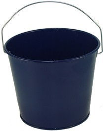5 Qt Powder Coated Bucket - Navy Blue Lustre 308