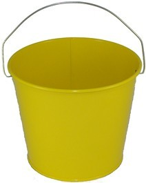 5 Qt Powder Coated Bucket - Sunshine Yellow 312