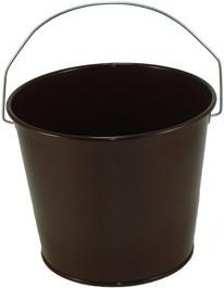 5 Qt Powder Coated Bucket - Chocolate Brown 318