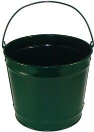 10 Qt Powder Coated Bucket - Hunter Green 004