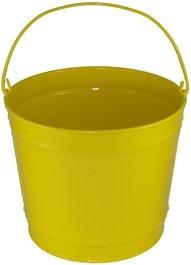 10 Qt Powder Coated Bucket - Sunshine Yellow 312