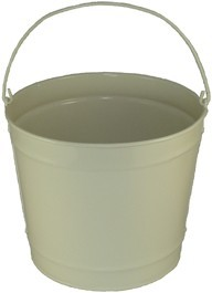 10 Qt Powder Coated Bucket - Beige Shimmer 316