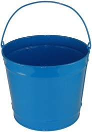 10 Qt Powder Coated Bucket - Sky Blue 320