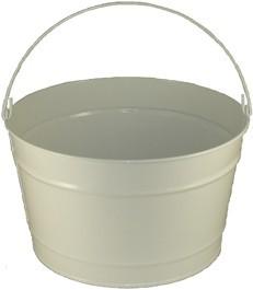 16 Qt Powder Coat Bucket - Glossy White 005