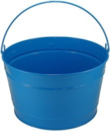 16 Qt Powder Coat Bucket - Sky Blue 320