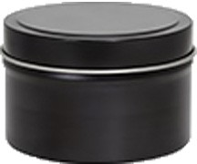213X111 Black Can w/ solid cover