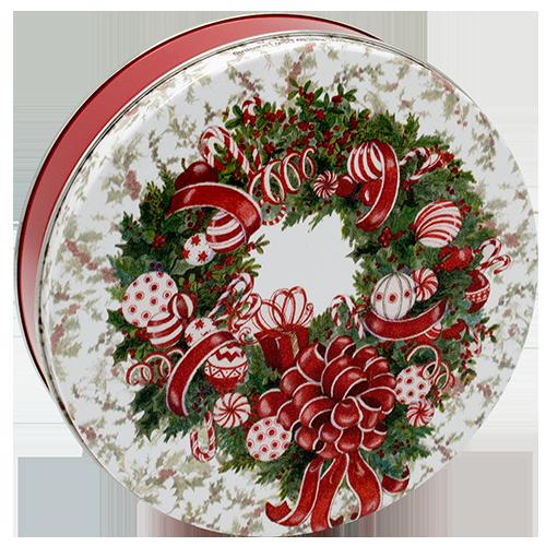 1S Red & White Wreath