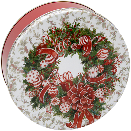 3M Red & White Wreath - CLEARANCE