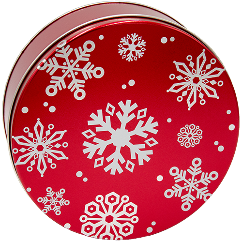 2C Red with Snowflakes