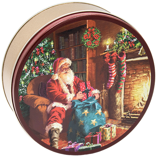 2C Santa By Fireplace - CLEARANCE