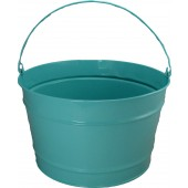 16 Qt Powder Coat Bucket - Robins Egg Blue - 321