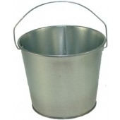 5 Qt Powder Coated Bucket - Plain Galvanized 315