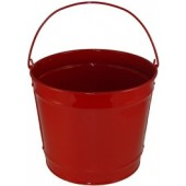 10 Qt Powder Coated Bucket - Candy Apple Red 003