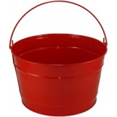 16 Qt Powder Coat Bucket - Candy Apple Red 003