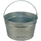 16 Qt Powder Coat Bucket - Plain Galvanized 315
