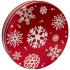 115 Red with Snowflakes